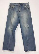EX-J EXJ jeans hitech uomo denim blu w36 tg 50 rilassato slim relaxed usato T978