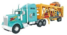 Big Daddy Big Rig Heavy Duty Tractor Trailer Car Transport Toy Truck with 3 Cars