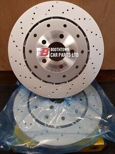 2x Audi RS6 4F 2008-2011 Rear Brake Discs 356 x 28mm 4F0615601H