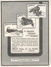 ▬► PUBLICITE ADVERTISING AD JOUETS MAERKLIN 1926