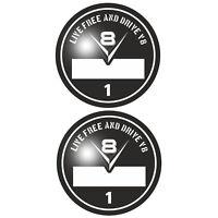 Set V8 Umweltplakette Aufkleber Sticker Hotrod US-Cars Tuning OEM JDM Auto