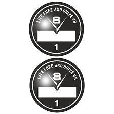 Set V8 Umweltplakette Aufkleber Sticker Hot Rod US Cars Rockabilly Youngtimer