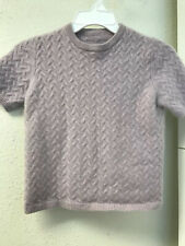 Cashmere Lavender Purple Short Sleeve Mock Neck Sweater Size PP