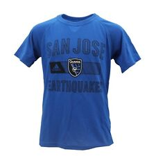 San Jose Earthquakes Official MLS Adidas Kids Youth Size Athletic Shirt New Tags