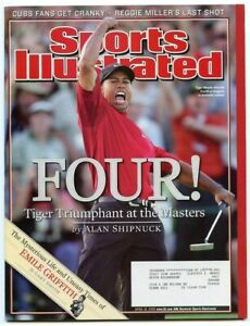 SI: Sports Illustrated April 18, 2005 Four!: Tiger Woods, Masters, VERY GOOD