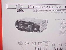 1975 CHEVROLET CORVETTE CAMARO PONTIAC FIREBIRD TRANS AM-FM RADIO SERVICE MANUAL