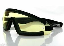Lunettes moto BOBSTER WRAP AROUND jaunes