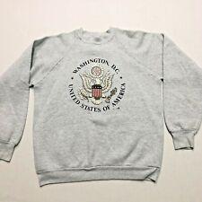 Vintage Washington DC USA Made Sweater Sz XL Spellout Capitol Presidential Seal