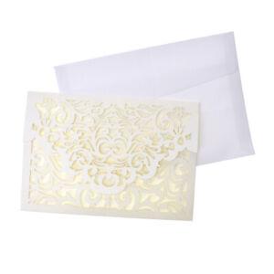 Baroque Glitter Laser Cut Invitations, 7-1/4-Inch, 8-Count