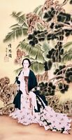 100% ORIGINAL ASIAN FINE ART CHINESE FAMOUS WATERCOLOR PAINTING-Beauty&Landscape