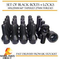 Black Wheel Bolts & Locks (16+4) 14x1.25 Nuts for BMW 5 Series [F10] 10-16