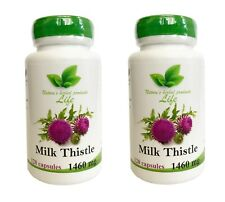 2 X Milk Thistle 120 Capsules 1460 mg, Liver Detox, Free World Wide Shipping
