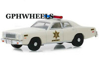 1977 77 PLYMOUTH FURY DUKES OF HAZZARD COUNTY SHERIFF DIECAST MODEL CAR 1:64