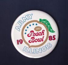 University of Illinois vs Army 1985 Peach Bowl football pinback button