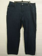 BASIC EDITION Women's Plus Dark Wash Classic Fit Strgt Leg Stretch Jean size 18W