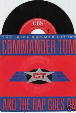 COMMANDER TOM And The Rap Goes On 45/DUTCH/PIC