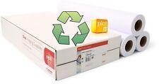 3 rotoli carta riciclata 80g/m INKJET CARTA DA PLOTTER a0 841mm x 50mtr consegna il giorno successivo