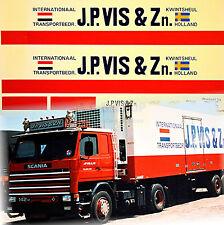 SCANIA J. P. VIS & zn. OLANDA (NL) 1:87 Camion decalcomania AUTOCARRO