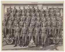 Vintage 4th Platoon 8 x 10 Photograph 4 F I3 Army Nice B&W BW Photo