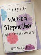 Fait Main Personnalisé Fête des Mères carte: Wicked belle-mère stepmum (drôle Cheeky)