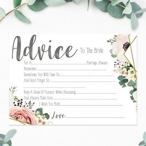 Hen Party Accessories Games Advice To The Bride Cards Boho Vintage Floral Design