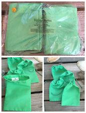 3x5 inches Green Cloth Muslin Drawstring Bags ,Art Craft Bags ,Qty 25 / 50 /100