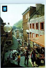 Quebec Canada L'escalier Casse-Cou Petit Champlain Street 4x6 Postcard A41