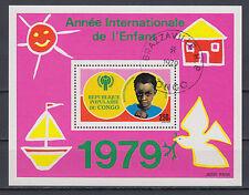 Kongo Block 21 Internationales Jahr des Kindes gestempelt