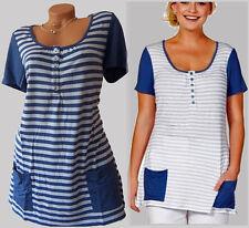 Casual by Sheego T-Shirt Longshirt Streifen Gr.52/54  Neu 307633