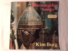 KIM BORG Mussorgsky: Songs lp CZECHOSLOVAKIA COME NUOVO LIKE NEW!!!