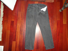 MEN'S VINTAGE 501 BLACK BUTTON FLY JEANS 36X30 MADE IN USA