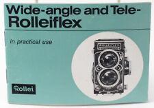Genuine Rollei Rolleiflex Wide & Tele-Rollei Instruction Manual - English