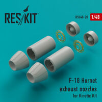 F-18 Hornet exhaust nozzles for Kinetic Kit (Upgrade set) 1/48 ResKit RS48-0028