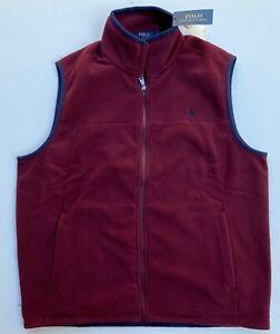 Polo Ralph Lauren Pony Men M L XL Fleece Soft Shell Vest Jacket NEW