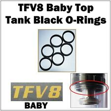 6- TFV8 Baby Black Tank Top Orings ( ORing O-Rings Gaskets smok Seals )