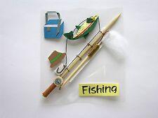Fishing Sticker embellishment, Cardmaking, Fathers Day, Scrapbooking