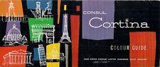 Ford Consul Cortina Mk1 Colour & Trim 1962-63 UK Market Brochure Std De Luxe