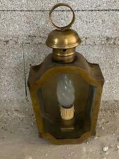 Ancienne Lanterne de Calèche Fiacre montée en Lampe en laiton