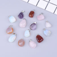 1/5/10PC Crystal Stone Necklace Pendent Charms Mixed Colour DIY Jewellery Making