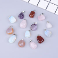 5/10PC Crystal Stone Necklace Pendent Charms Mixed Colour for Jewellery Making