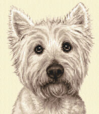 WEST HIGHLAND WHITE TERRIER dog, puppy, Counted cross stitch kit + all materials