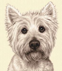 WEST HIGHLAND WHITE TERRIER dog, puppy, Counted cross stitch kit *Jann Designs