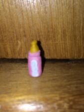 DOLL HOUSE SCALE 'HAND PAINTED' BABIES PINK OR BLUE MILK BOTTLE !! 'BUY IT NOW'
