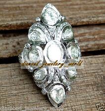 Estate Vintage 2.88cts Rose Antique Cut Polki Diamond 14kts Gold Ring Jewelry