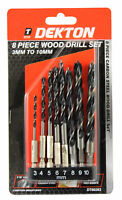 Dekton 8pc 1/4'' Shank Wood Drill Set 30-10mm