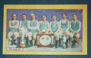 WALSALL WATER POLO TEAM    Original 1920's Vintage Colour Card
