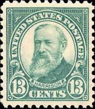 1926 13c Benjamin Harrison, Light Green Scott 622 Mint F/Vf Nh