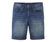 LIVERGY Herren Bermuda Denim Sweat Hose Short Herrenmode kurze Hose Blau 50