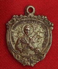 Vintage STERLING CREED SAINT GERARD MAJELLA MEDAL Religious REDEMPTORISTS