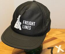 VINTAGE TP FREIGHT LINES TRUCKING PORTLAND OREGON HAT BLACK SNAPBACK MESH BACK